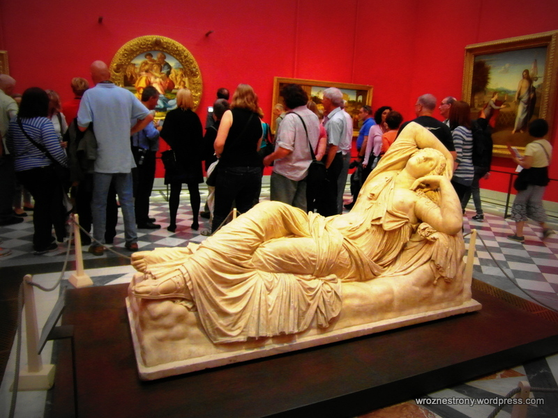 Eksponaty w Galerii Uffizi
