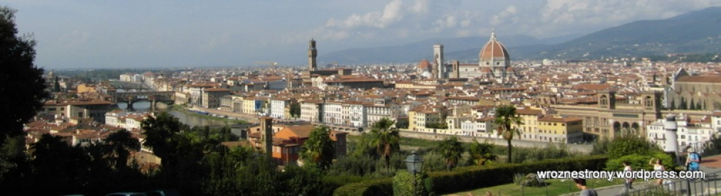 WIdok na Florencję z Piazzale Michelangelo
