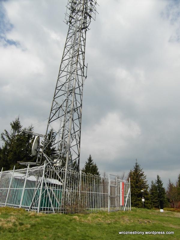 Maszt na szczycie Klimczoka