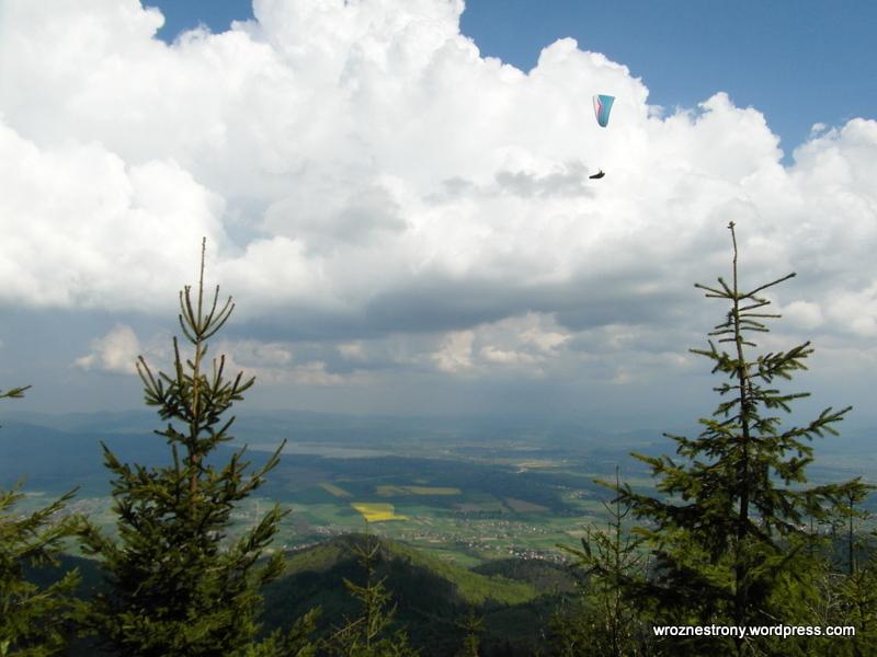 Skrzyczne - widok z trasy na szczyt