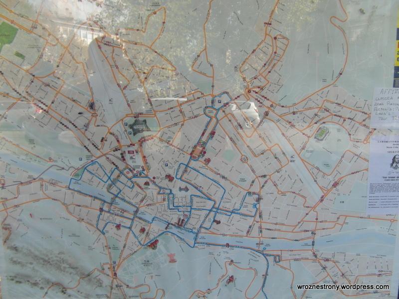 Zdjęcie planu komunikacji miejskiej