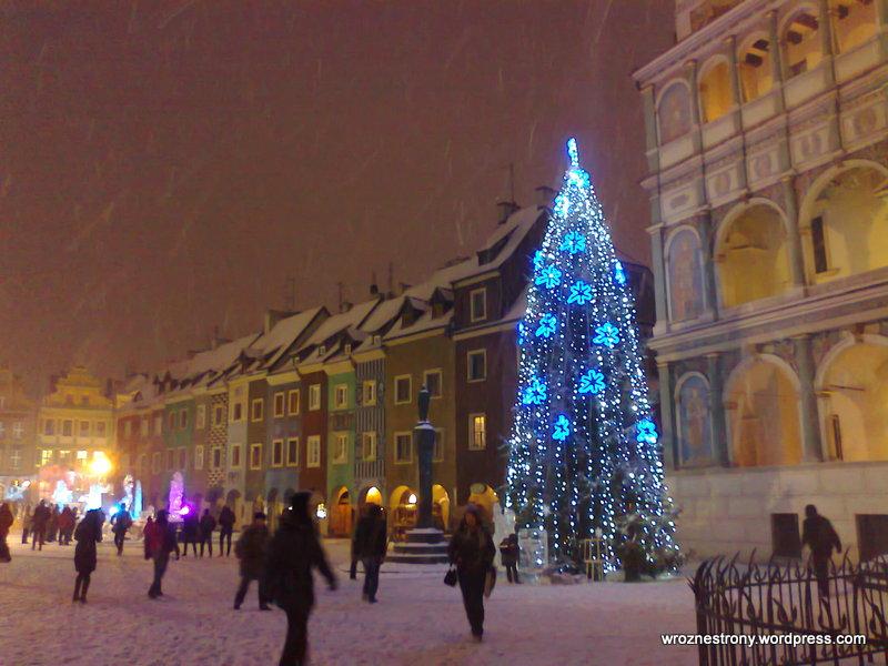 Tak pięknie wyglądal Stary Rynek w Poznaniu w 2012 roku