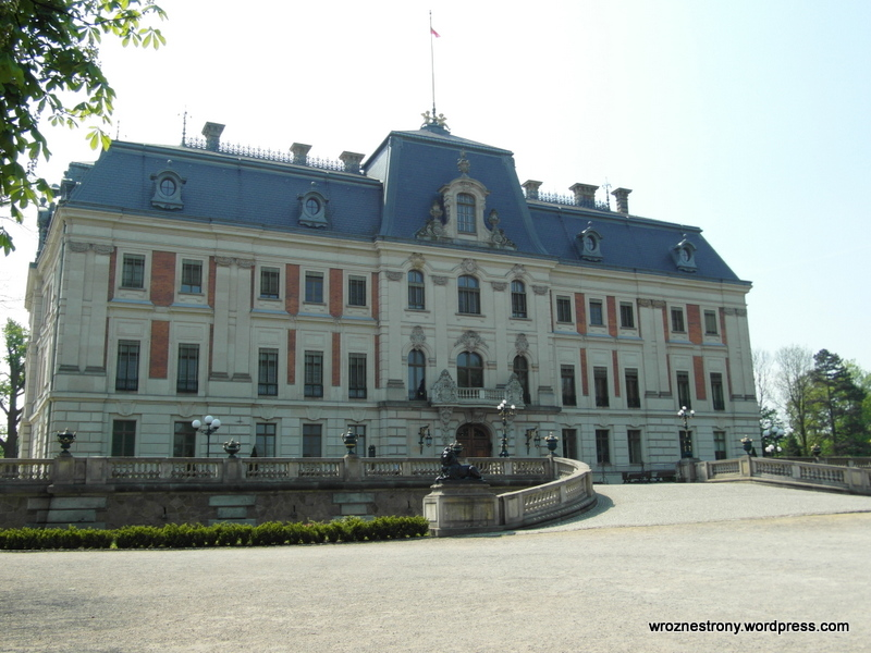 Zamek od stony parku