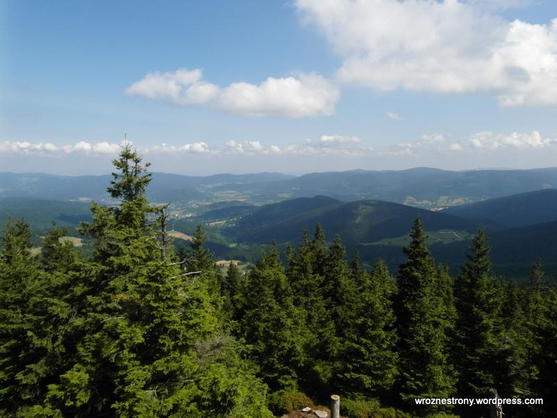Panorama z wieży widokowej na Czarnej Górze