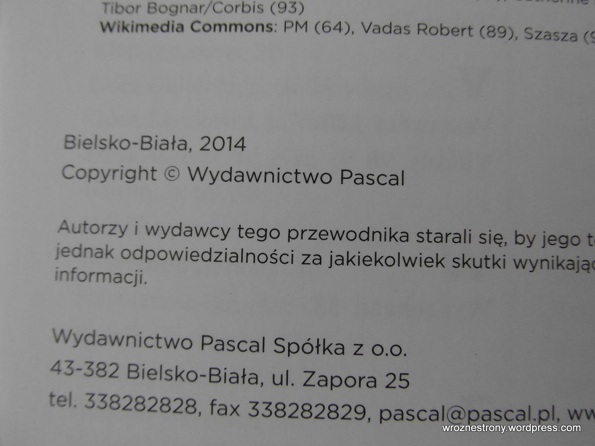 Przewodniki wydane zostały w 2014r., wiec zawierają aktualne informacje