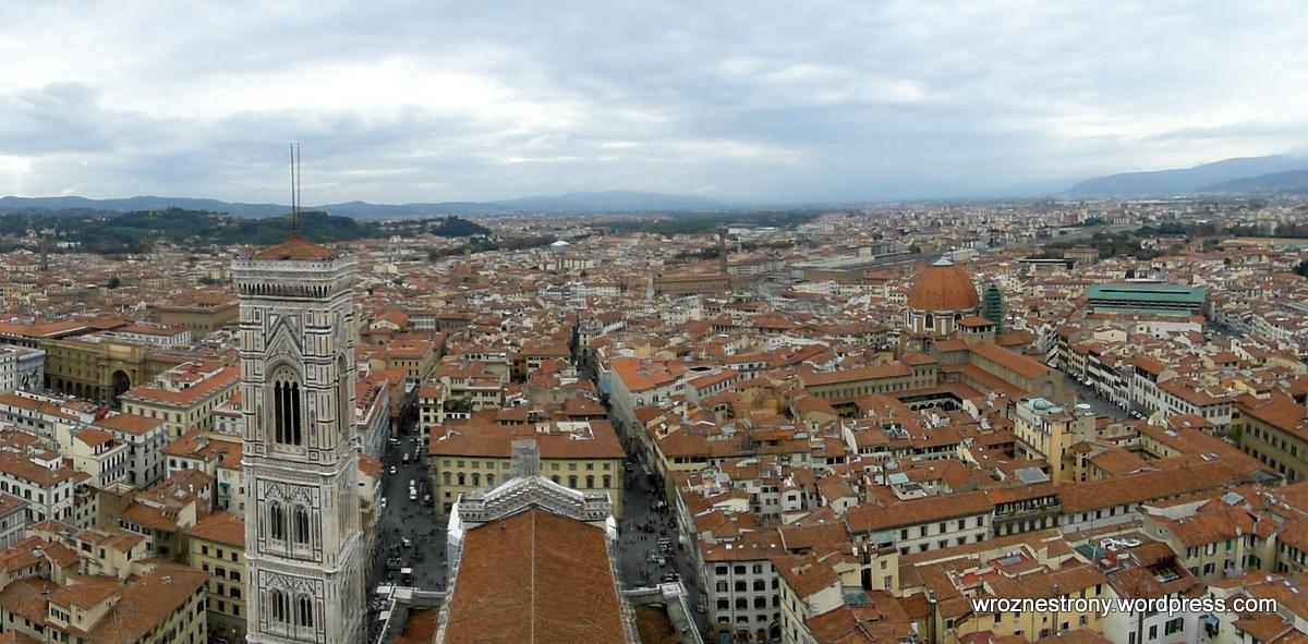 Widok z kopuły katedry Santa Maria del Fiore