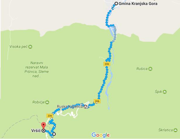 Kranjska Gora- Przełęcz Vršič
