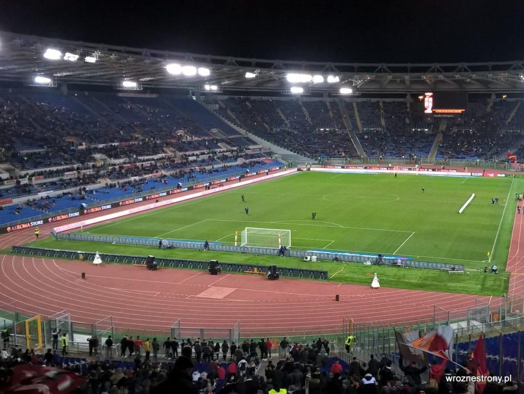 Stadio Olimpico tuż przed meczem AS Roma – Sampdoria