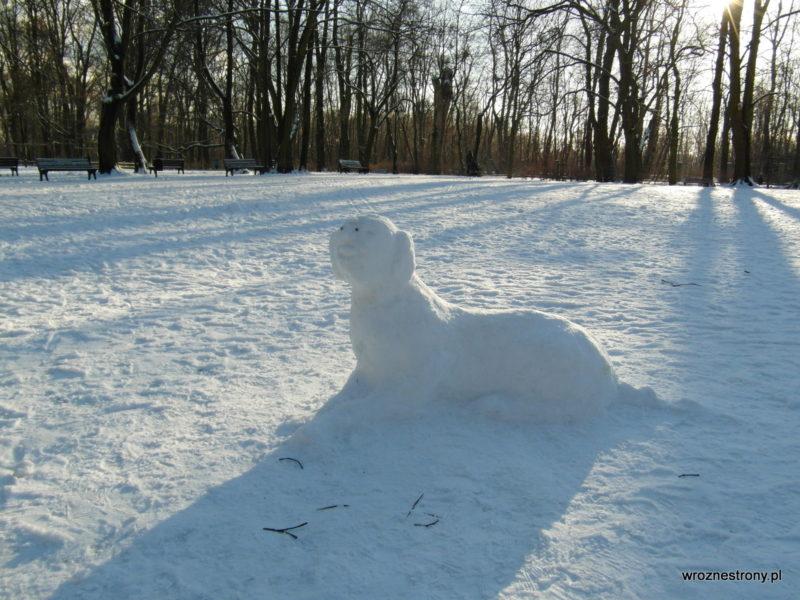Śnieżne rzeźby ;)