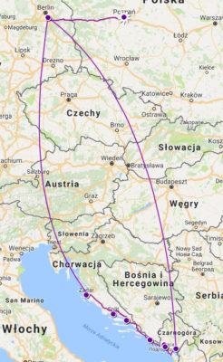 Nasza trasa - Czarnogóra i Chorwacja
