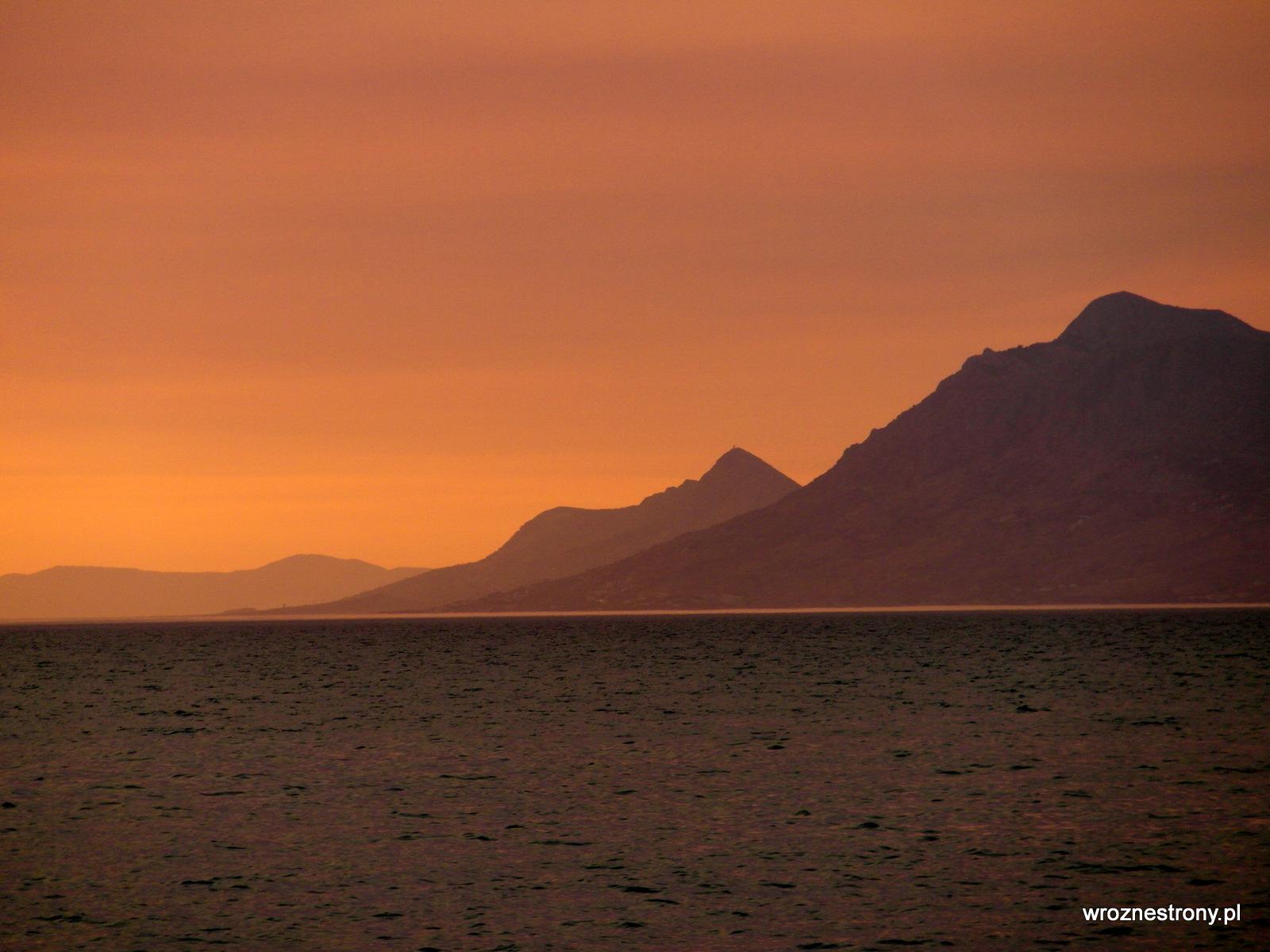 zachód słońca widziany z Półwyspu św. Piotra