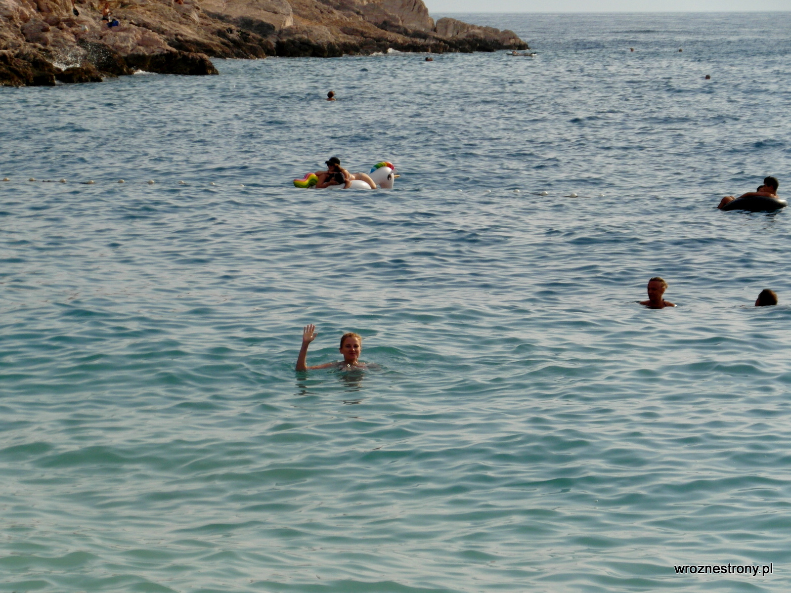 Pływanie w Adriatyku daje dużo radości :)