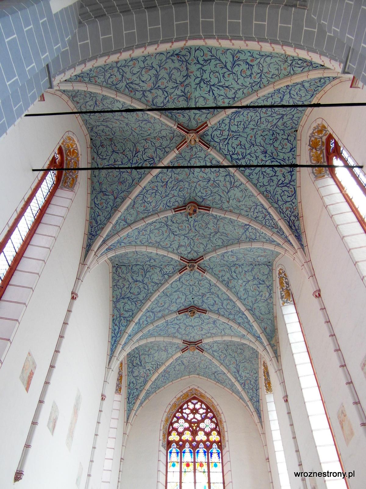 Sklepienie krzyżowo-żebrowe, kościół śś. Jakuba St. i Mikołaja w Chełmnie