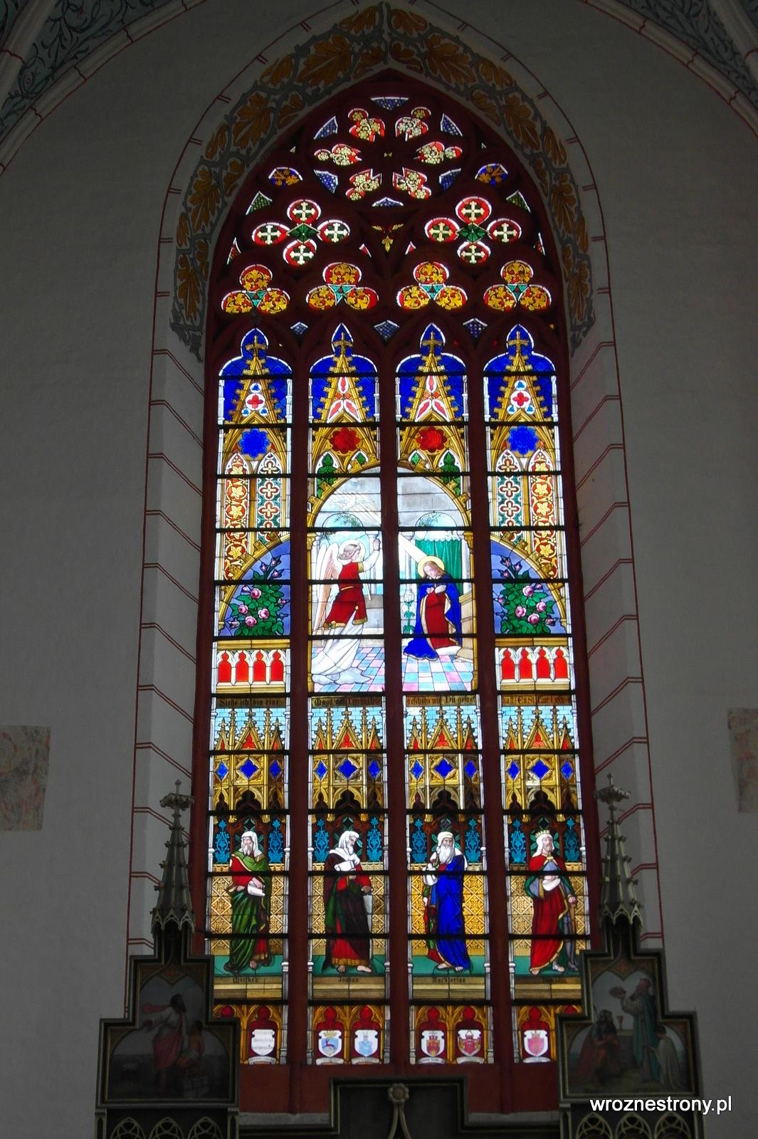 Witraż w kościele św. Jakuba i św. Mikołaja