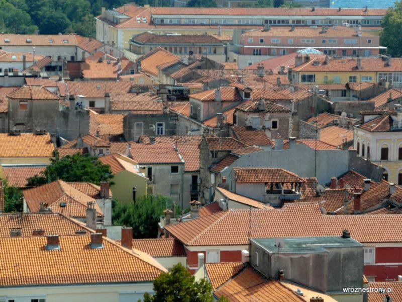 Widok z wieży katedry św. Anastazji w Zadarze