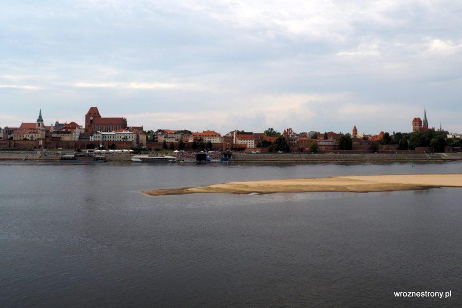 Panorama Torunia z punktu widokowego