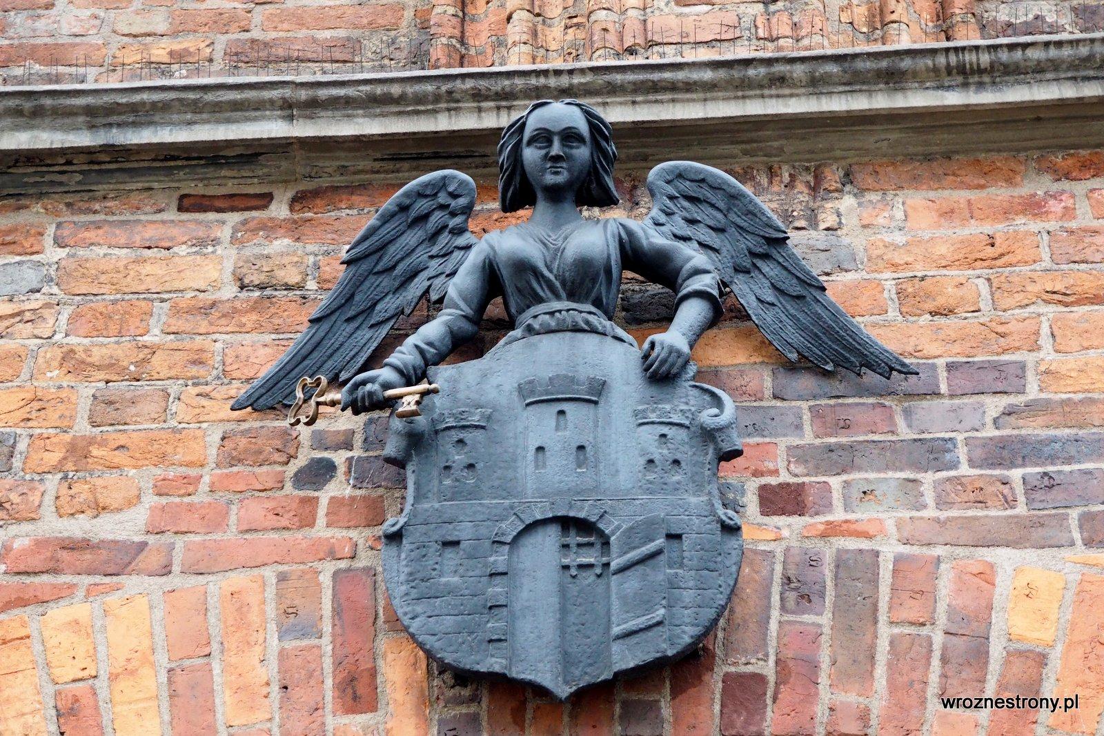 Herb Torunia z aniołem