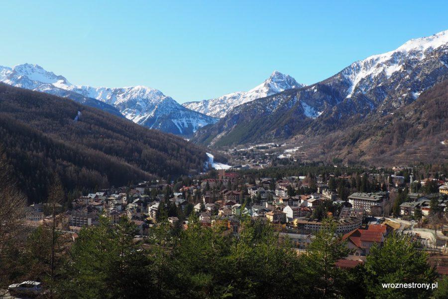 Bardonecchia, północne Włochy, luty 2020