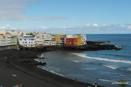 Czarna plaża w Puerto de la Cruz