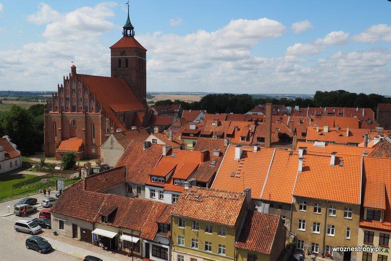 Widok z wieży zamku w Reszlu