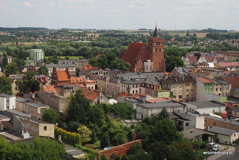Panorama Brodnicy z wieży zamku